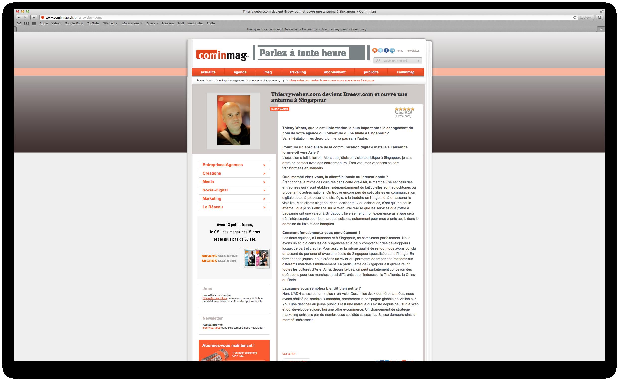 Cominmag, le magazine des nouvelles technologies de l'information!