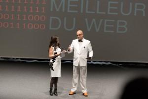 Thierry Weber (breew.com) et Victoria Marchand (comingmag.com), co-fondateurs du prix due Meilleur du Web