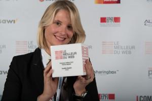 Aurélie Duplais, CEO de l'agence Virtua, lauréate de la catégorie Femme Digitale du Meilleur du Web 2015